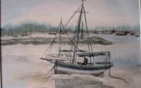 Aquarel-vissersbootje